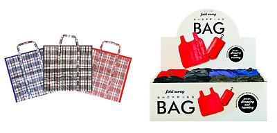 Reusable Extra Large Jumbo Laundry Bag Strong Fold-Away Shopping Bag For Life
