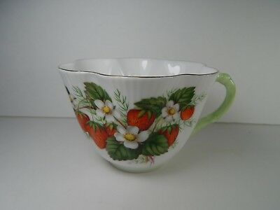 Vintage Shelley Tea Cup and Saucer. Strawberry Dainty Shape.