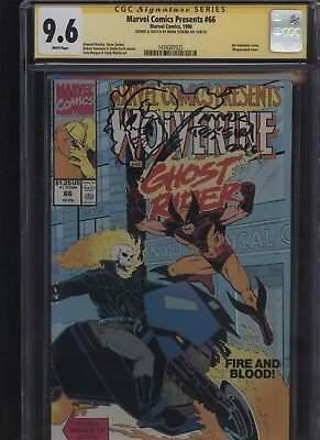 Marvel Comics Presents #66 CGC 9.6 SS Mark Texeira SKETCH Ghost Rider WOLVERINE