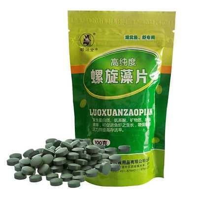 100g Enrichment Spirulina Tablets Favorite Pet Food for Fish Shrimp Turtle