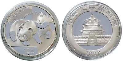 2008 China Silver Panda 1-oz Coin - BLEMISHED - FREE Shipping