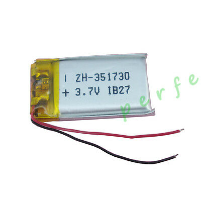 3.7V 150 mAh Polymer Li battery For bluetooth headset glasses Sat Nav pen 351730
