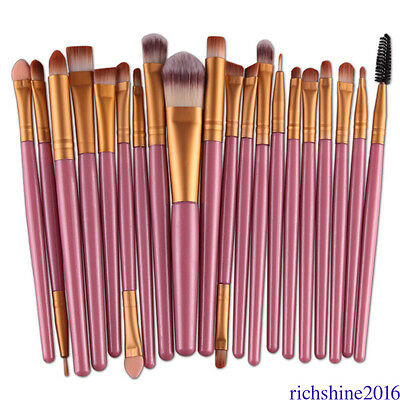 20 x Makeup Brushes Set Eyeshadow Eyebrow Eyeliner Foundation Lip Brush SIF