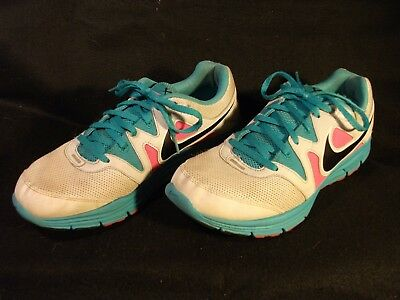 5844580a7516 Women s Nike Lunarfly 3 White Pink Teal Running Shoes 487751-103 Size 9.5