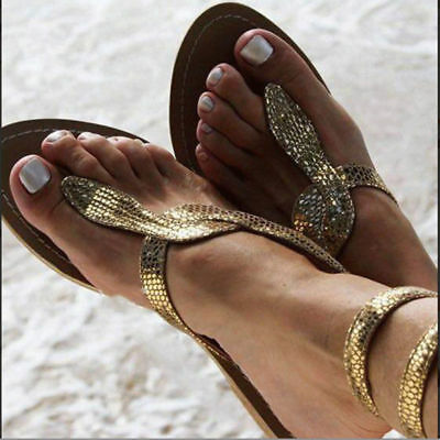91850c092bc51 SANDALS WOMEN SHOES Rhinestones Chains Thong Gladiator Flat Sandals Plus  Size