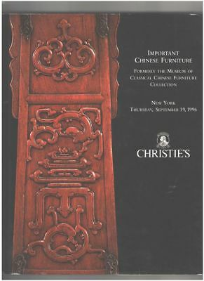 Christie's Catalog, Important Chinese Furniture New York Sep. 19 1996