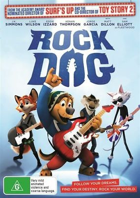 Rock Dog Dvd, New & Sealed, 2017 Release, Region 4, Free Post