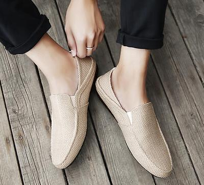 Stylish Mens Breathable Slip On Driving Moccasins Loafers Hemp Gommino Shoes Hot
