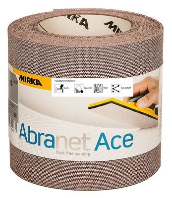 Mirka Abranet Ace Abrasive Mesh Grinding Roll 115 mm x 10 M Grain Free Selection