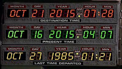 Back To The Future BTTF Circuit Display Plate Label Set Delorean Time Machine