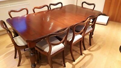 antique mahogany dining table (without chairs) in excellent condition