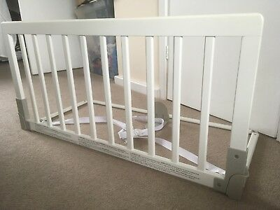BabyDan Wooden Bed Guard Rail, White