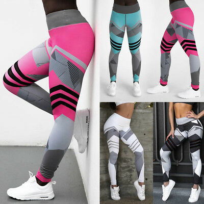 US Womens Sports Gym Yoga Leggings Fitness Workout Long Jogging Pants Trousers