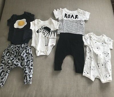 Cotton On Baby Bundle (6 Pieces), Size 0000, Newborn, **Excellent Condition**