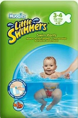 Huggies Little Swimmers Nappies Size 3-4 (7kg-15kg) - 6 Pants