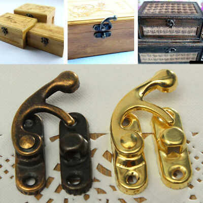 12X Ox Horn Hardware Fitting Lock Hasp Buckle Latch With Screws For Jewelry Box
