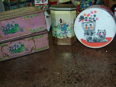 VINTAGE Lot of 4 Advertising Candy Boxes