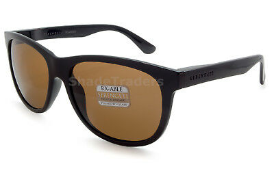 2ade61448a7 Serengeti Ostuni Unisex Sunglasses Shiny Black Polarized Brown Drivers 8359