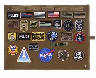 Roll up Klett Abzeichen Morale Fun patches Hook Loop Army Patch Wand mit Klett