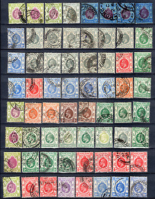 Hong Kong China Kevii Kgv Selection Of Used Stamps Pmk Interest