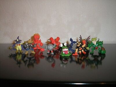 Digimon Set 10 Figuren Meramon Whamon Ogremon Wizardmon Numemon Kuwagamon Figur