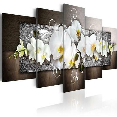 Flower Modern Home Decoration Hot Sell Fashion Wall Art Canvas Painting 5 Pieces