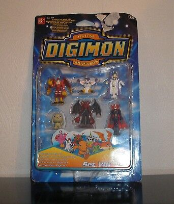 Digimon Figuren Set VIII OVP Gatomon Angewomon Myotismon Staffel 1 + Miniposter