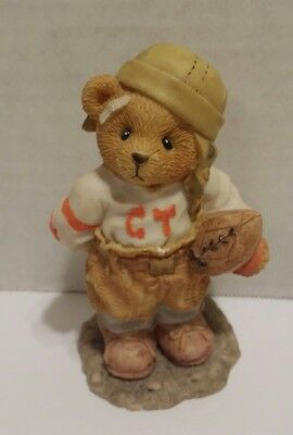 Cherished Teddies Butch #156388 Can I Be Your Football Hero? Bear Figurine Sport