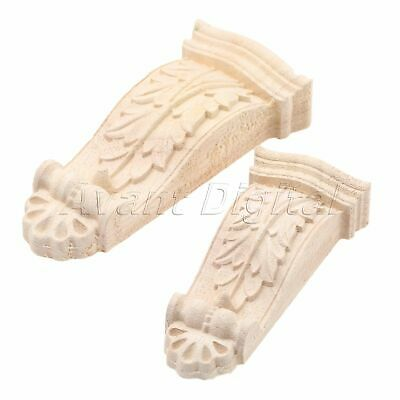 Wood Carved Corbels Decal Applique Wooden Furniture Table Wardrobe Decoration