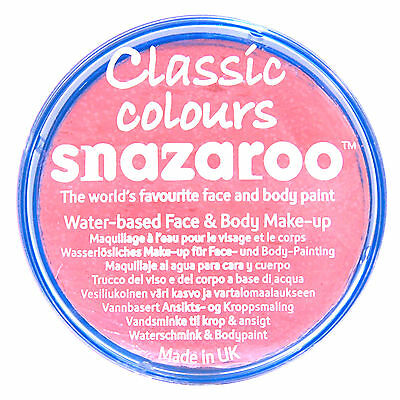 Snazaroo 18ml PALE PINK FACE PAINT Fancy Dress Party Stage Make Up Classic