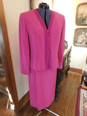 Gorgeous Hot Pink Adrianna Papell Mother Of The Bride Or Groom 2-Piece Suit S 10