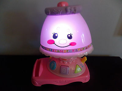 Fisher Price Laugh U0026 Learn My Pretty Learning Lamp No Book 30+ Songs  Phrases GUC