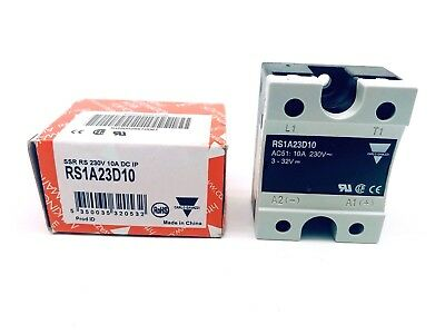 Carlo Gavazzi RS1A23D10 Solid State Relay 12A,265 VAC, Panel,Zero Crossing (2PK)