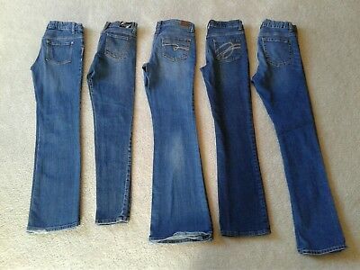 Girls 5 Pce Jeans Lot Size 14 w/ Adjustable Waist OLD NAVY, ABBEY DAWN, JUSTICE!