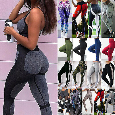 Womens Sports YOGA Workout Slim Fitness Leggings Pants Jumpsuit Athletic Clothes
