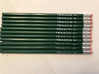 11 Vintage Unused No 1 TEXACO Pencils - Gas & Oil