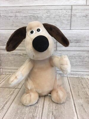 "Wallace & GROMIT 11"" plush Sitting Dog VTG 1989  Born to play stuffed RARE doll"