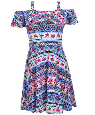 RMLA Girls' Cold Shoulder Dress