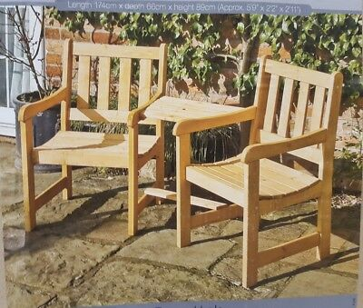 Wooden Garden Furniture Love Seats Jack U0026 Jill (light Honey Stained Finish)