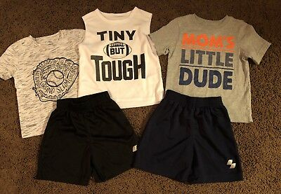 Toddler Boys 2t Shorts Outfits T-shirts Lot Size 2t The Childrens Place Black