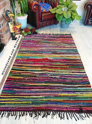 Fabulous New Rag Rug Hippie Carpet Wall Hanging Bohemian Throw Home Decor