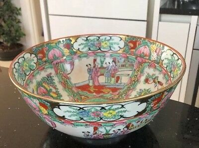 Large Chinese Canton Porcelain Famille Rose Bowl