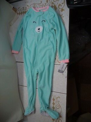 C.….s Bear One Piece Outfit Light Green Poly & Poly/Cotton Lining MSRP $20 Cute!