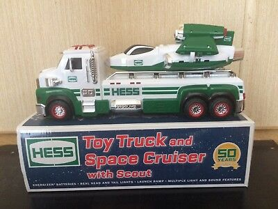 2014 HESS TOY TRUCK and SPACE CRUISER W/SCOUT IN EXCELLENT USED CONDITION