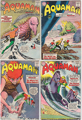 Aquaman Issues #7 #8 #10 #12 GOOD/VERY GOOD 3.0 (GD/VG) Cream - White pages
