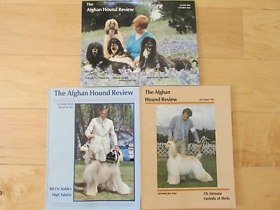 The Afghan Hound Review Mags, 1983 3 Issues