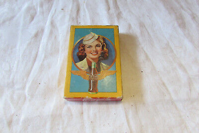 1943  Drink Coca Cola, Airline Stewardess, Deck Playing Cards 1 jokers
