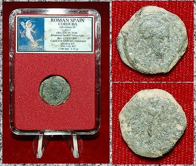 Ancient Coin Roman Spain CORDUBA Venus On Obverse CUPID With Cornucopia Reverse