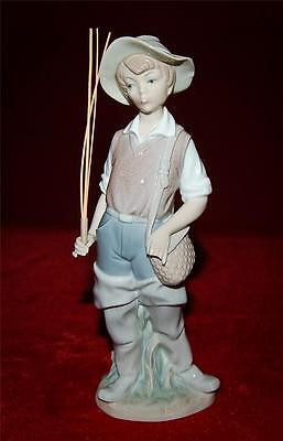 "LLADRO ""Going Fishing"" #4809 Reg.295$ Late 1970's  AS IS FOR REPAIR!"