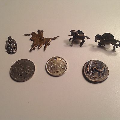 HORSE EQUESTRIAN LOVER Items: Pendant, Pins, Coins